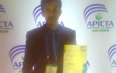 Asiri Wijesinghe won a Merit Award at the Asia Pacific ICT Awards 2015