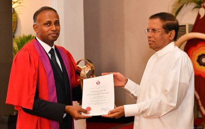 CVCD Excellence Award 2018 to Senior Professor Pujitha Wickramasinghe