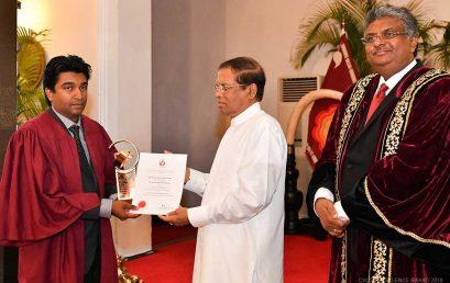 CVCD Excellence Award 2018 to Dr. Sameera R Samarakoon