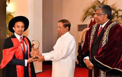 CVCD Excellence Award 2018 to Dr. Ranil Jayawardena