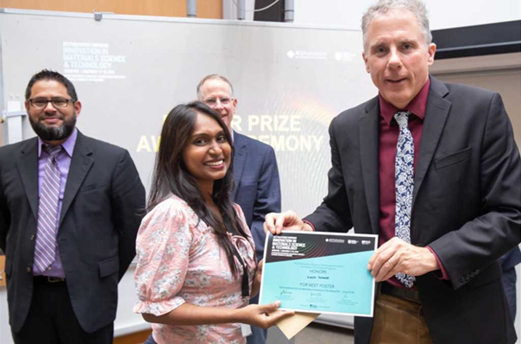 Best Poster Presentation Award at the American Chemical Society (ACS) Publications Symposium